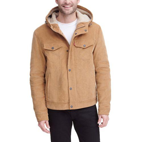 Men's Levi's® Corduroy Sherpa Lining Hooded Trucker Jacket