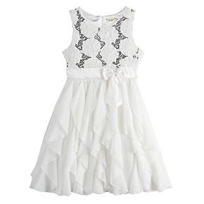 Girls 4-16 & Plus Size Knitworks Floral Ruffle Bow Dress