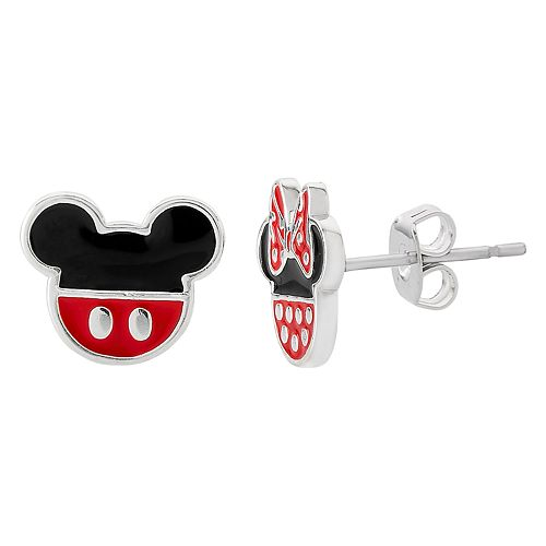 Disney's Mickey Mouse & Minnie Mouse Stud Earrings