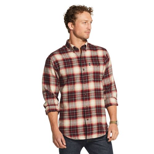 Men's G.H. Bass Fireside Regular-Fit Plaid Flannel Button-Down Shirt