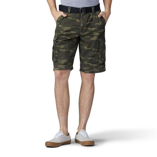 Big & Tall Lee Wyoming Belted Cargo Shorts