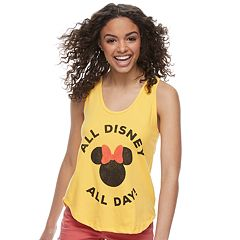 Disney's Minnie Mouse Juniors' 'All Disney All Day' Graphic Tank Top by Family Fun
