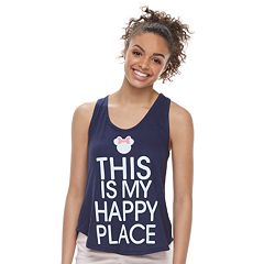 Disney's Minnie Mouse Juniors' 'Happy Place' Graphic Tank Top by Family Fun