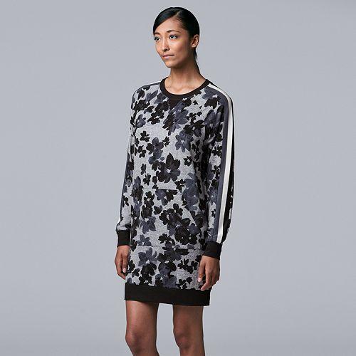 Women's Simply Vera Vera Wang Flower Print Sleep Shirt