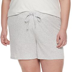 Plus Size SONOMA Goods for Life™ Ribbed Essential Pajama Shorts