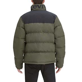 Men's Levi's Arctic Cloth Stand Collar Logo Puffer Jacket