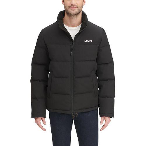 Men's Levi's® Arctic Cloth Stand Collar Logo Puffer Jacket