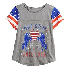 0465c3ef0 Girls 7-16 & Plus Size SO® Flag Graphic Tee