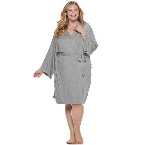 Plus Size SONOMA Goods for Life™ Knit Wrap Robe