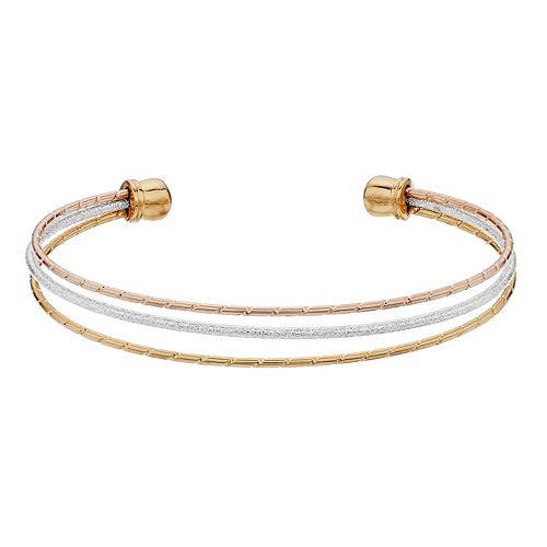 LC Lauren Conrad Diamond Dust Cuff Tri Bracelet