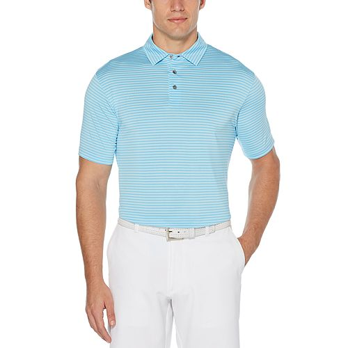 Men's Grand Slam Classic-Fit Striped Yarn-Dyed Performance Golf Polo