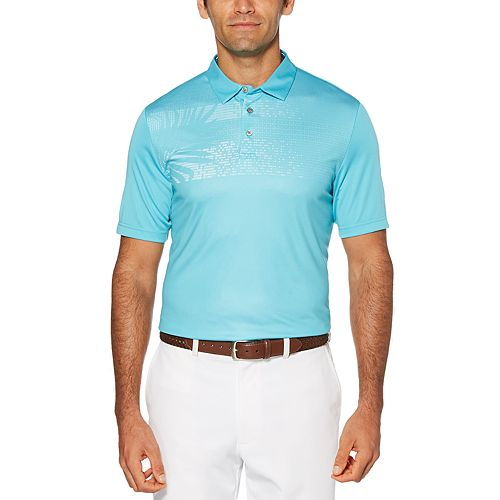 Men's Grand Slam Driflow Slim-Fit Tropical Performance Golf Polo