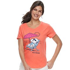 4e73dcdcf4 Women s Family Fun Peanuts Snoopy Waves   Rays Graphic Tee