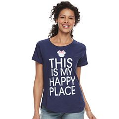 Disney's Minnie Mouse Women's 'Happy Place' Graphic Tee by Family Fun