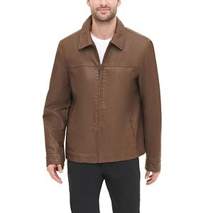 Men's Dockers Faux Leather Open Bottom Jacket