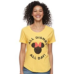 Disney's Minnie Mouse Women's 'All Disney All Day' Graphic Tee by Family Fun