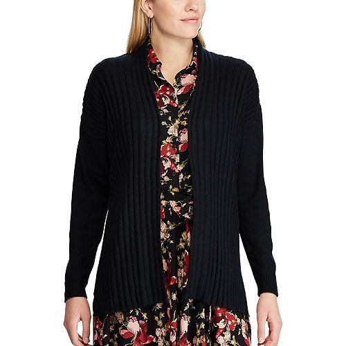 Women's Chaps Ribbed Open-Front Cardigan