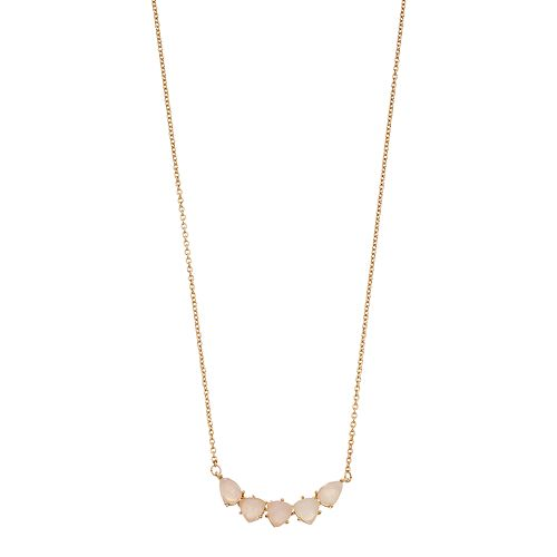 Rhode & Co. Rose Quartz Necklace