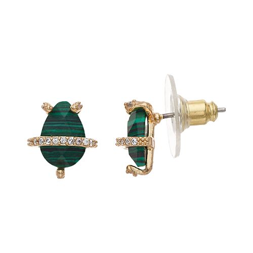 Rhode & Co. Malachite Stud Earrings