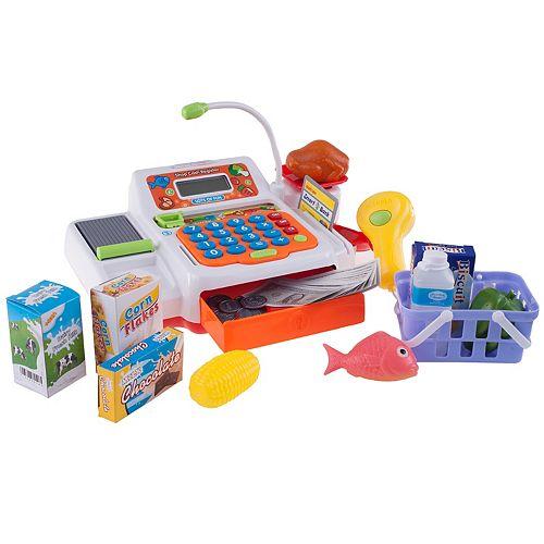 Hey! Play! Pretend Cash Register Supermarket Playset