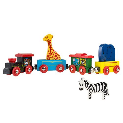 Hey! Play! Magnetic Wooden Animal Learning Train Set