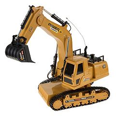 Hey! Play! Remote Control Tractor Excavator Construction Toy