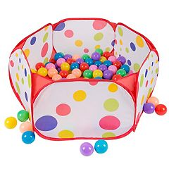Hey! Play! Kids Pop-up Six-sided Ball Pit Tent