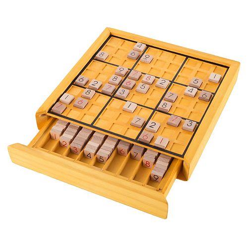 Hey! Play! Wood Sudoku Board Game Set