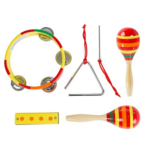 Hey! Play! Kids Percussion Musical Instruments Toy Set