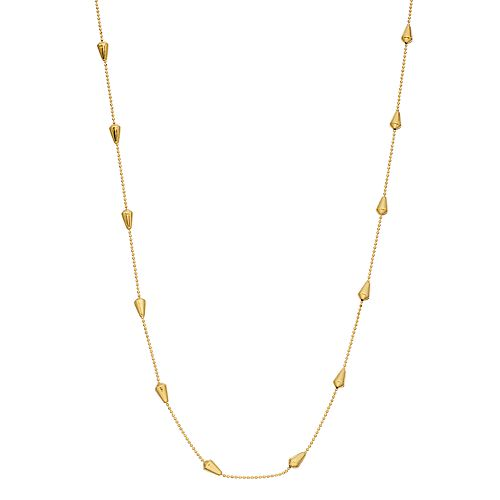 Primavera 24k Gold over Silver Beaded 18-inch Chain Necklace