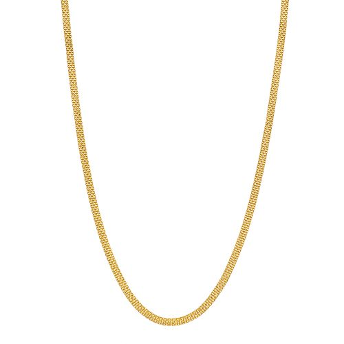 Primavera 24k Gold over Silver Bismark Chain Necklace