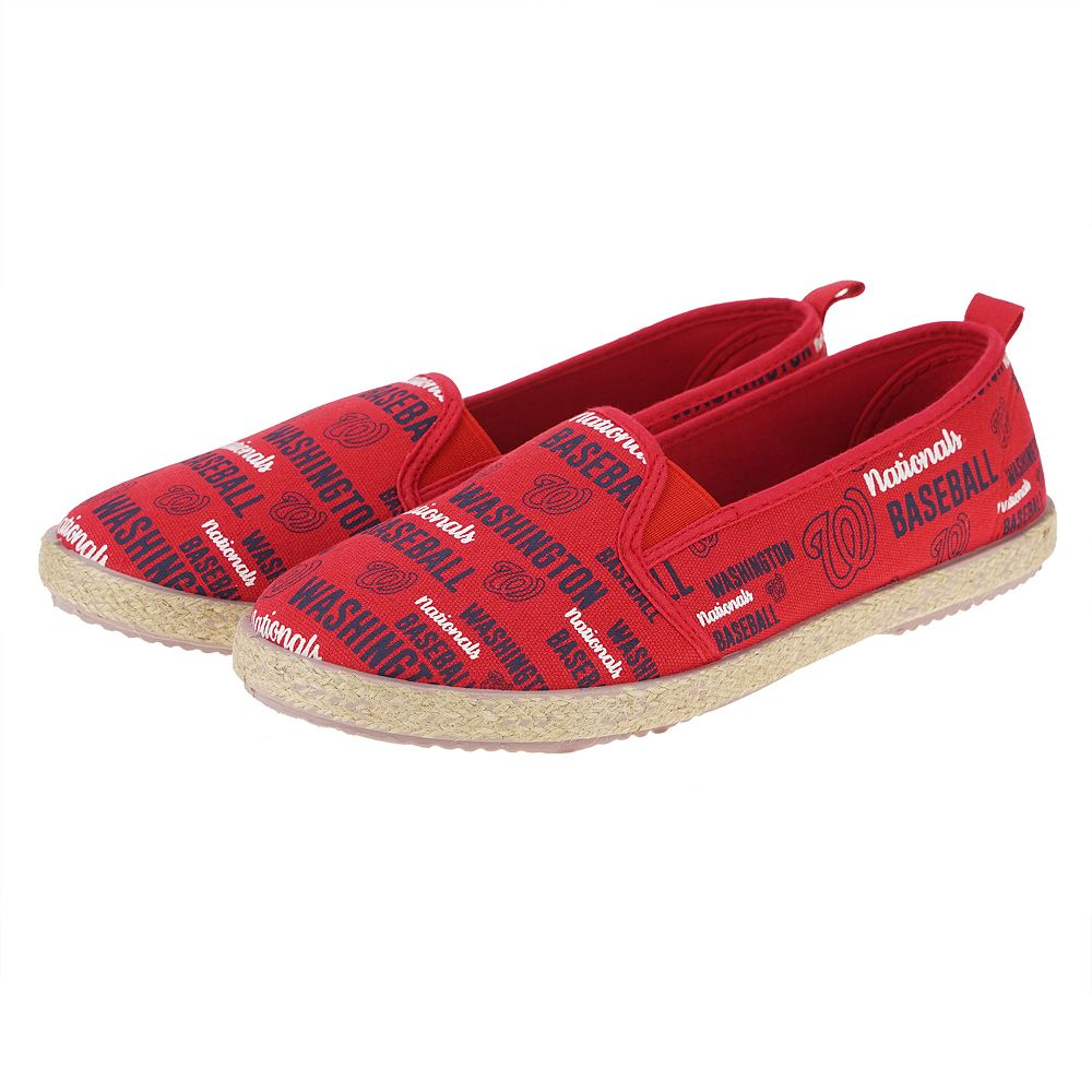 Women's Washington Nationals Slip-On Canvas Shoes