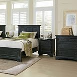 Inspired By Basset Farmhouse Basics Twin Bed Set with Chest and Nightstand