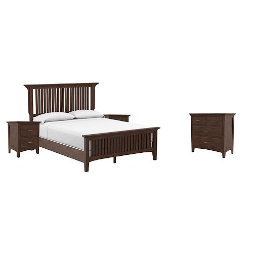 Inspired By Bassett Modern Mission Queen Bedroom Set