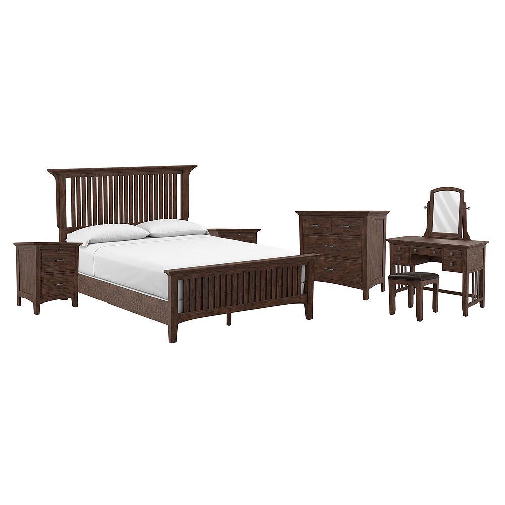 Inspired By Bassett Modern Mission Queen Bedroom Set