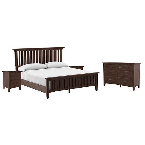 Inspired By Bassett Modern Mission King Bedroom Set
