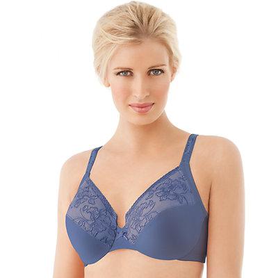 Glamorise Bra: Wonderwire Lace Full-Figure Bra 9075 - Women's