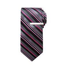Men's Apt. 9® Skinny Tie with Tie Bar
