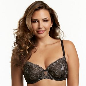 Paramour by Felina Bra: Ellie Unlined Full-Figure Demi-Cup Bra 115009