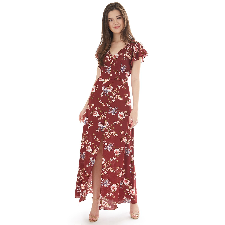 Burgundy Dresses for Juniors