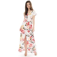 b04a7896a9748 Juniors  IZ Byer Flutter Sleeve Bar Back Maxi Dress