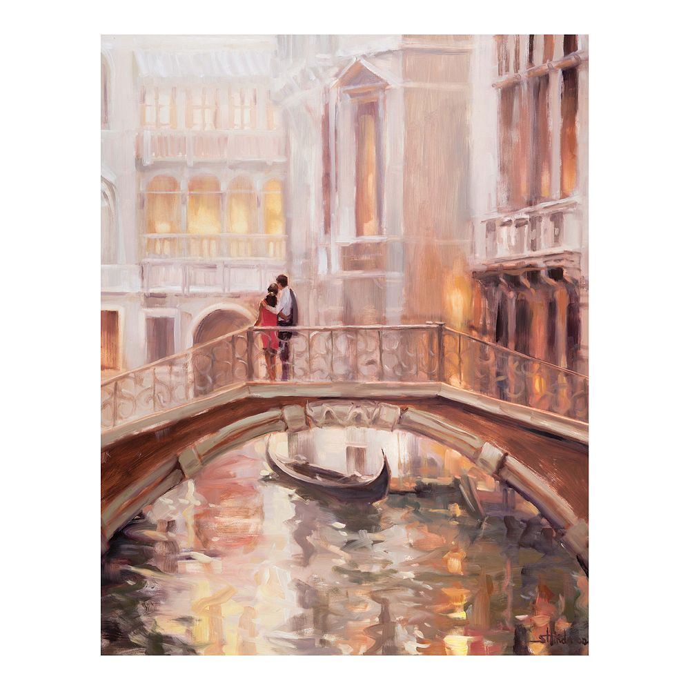 New View Gifts Europe Bridge Canvas Wall Art