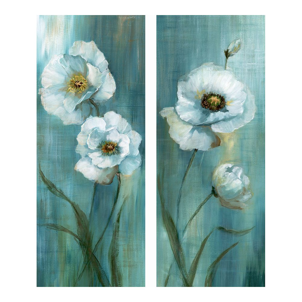 New View Gifts Poppies Canvas Wall Art 2-piece Set