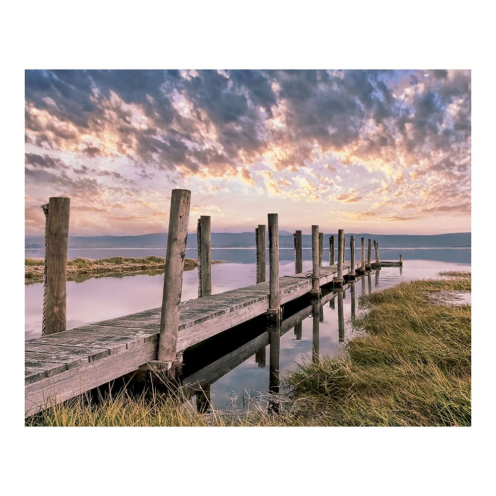 New View Gifts Sunset at the Pier Canvas Wall Art
