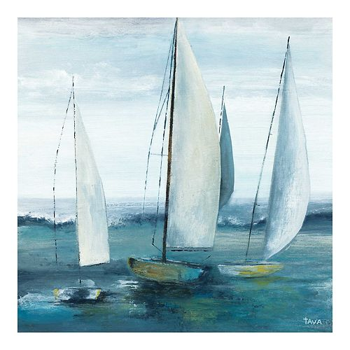 New View Gifts Trios Sail Canvas Wall Art
