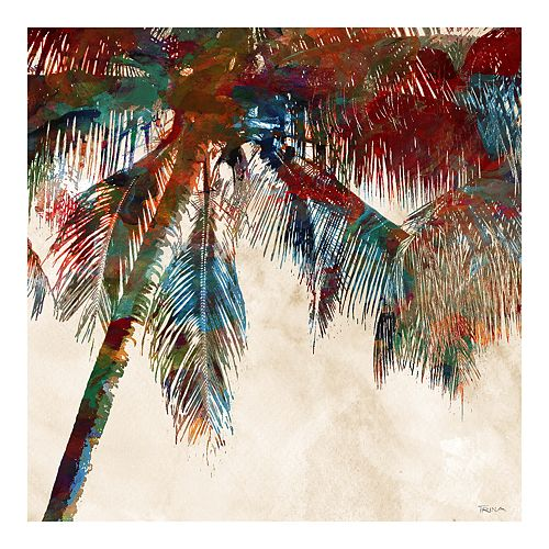 New View Gifts Palm Tree Canvas Wall Art