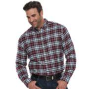 Big & Tall Croft & Barrow® Regular-Fit Flannel Woven Button-Down Shirt
