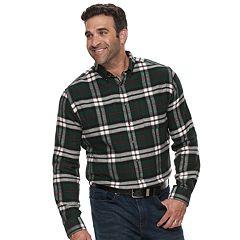 9775fa64f3d Big   Tall Croft   Barrow® Regular-Fit Flannel Woven Button-Down Shirt