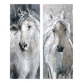 New View Gifts Horse Canvas Wall Art 2-piece Set