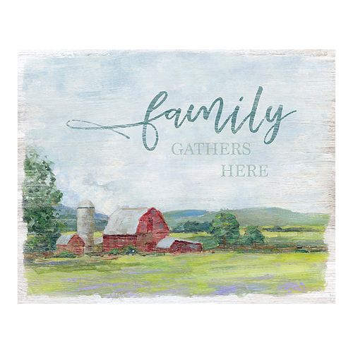 New View Gifts Family Barn Canvas Wall Art